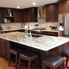 Contemporary Kitchen Cabinetry by Wright Cabinetry