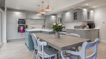 Barton on Sea refurbishment project; open plan kitchen/diner/lounge