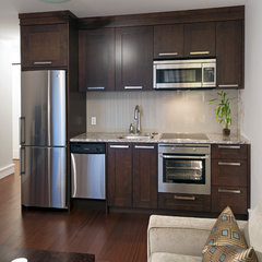 contemporary basement by Old World Kitchens & Custom Cabinets