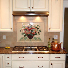 Traditional Kitchen by Designer Glass Mosaics