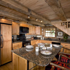 Traditional Kitchen by Country Mountain Homes Llc