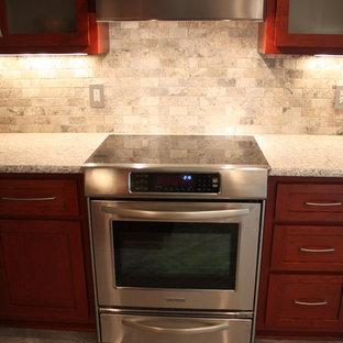 Kitchen - contemporary kitchen idea in Charlotte