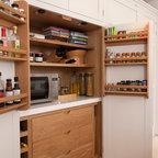Breakfast Cabinet With Bi Fold Doors Contemporary
