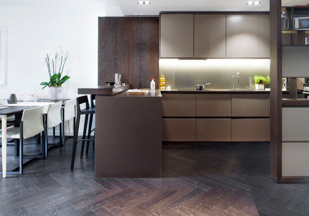 Contemporary Kitchen by Domus -Tiles, Stone along with Wood