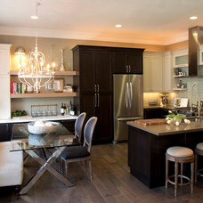 Transitional Kitchen by Le Reve Design & Assoc.
