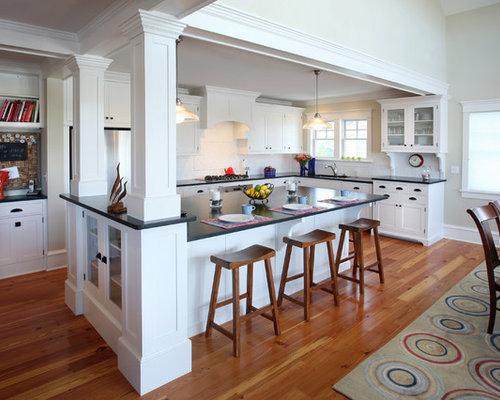 Kitchens With Columns kitchen columns | houzz