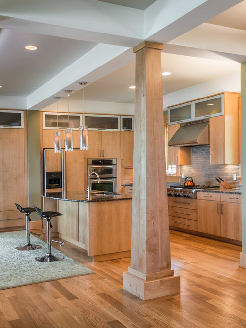 Interior columns houzz for Craftsman columns