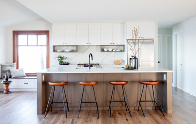 Remodeled Galley Kitchen With Warm Contemporary Style