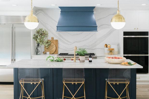 Transitional Kitchen by Hendrickson Interiors