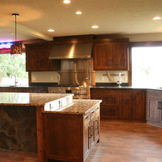 Rustic Kitchen by ProGrass Home and Landscape Improvements