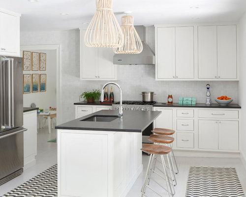 Ideas para cocinas dise os de cocinas costeras con suelo - Pared cocina pintada ...