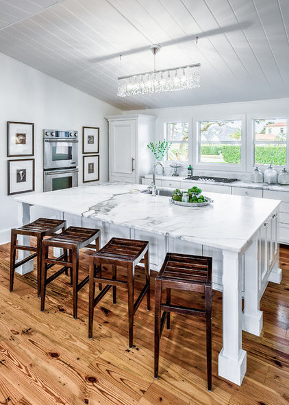Transitional Kitchen by Beach Chic Design