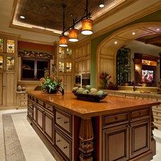 Mediterranean Kitchen by Kurtz Homes Naples