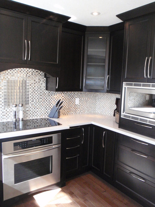 Houzz   Black Stained Cabinets Design Ideas & Remodel Pictures