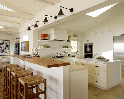 Large Beach Style Open Concept Kitchen Designs   Inspiration For A Large  Beach Style U  Part 49