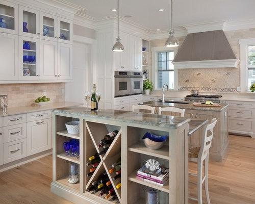 cuisine bord de mer avec un plan de travail en quartz photos et id es d co de cuisines. Black Bedroom Furniture Sets. Home Design Ideas