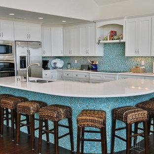 Merveilleux Blue Tile Backsplash | Houzz