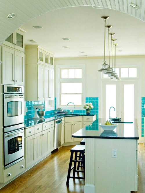 beach style kitchen cabinets built in kitchen cabinets ideas pictures remodel and decor 4367