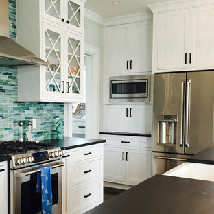 75 Beautiful Beach Style Kitchen With Glass Tile