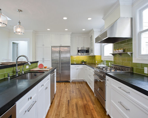 Kitchen   Beach Style Kitchen Idea In San Francisco With Recessed Panel  Cabinets, Stainless