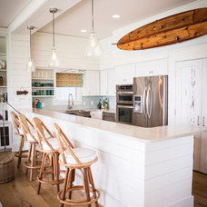 Beach Style Kitchen by Ashley Gilbreath Interior Design