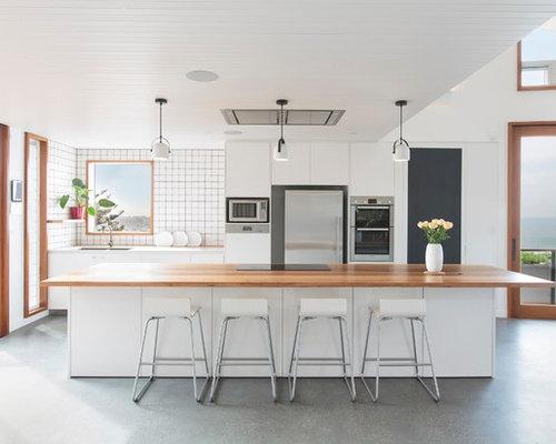 Pavimento Bianco E Grigio : Cucina al mare con pavimento in cemento foto e idee per