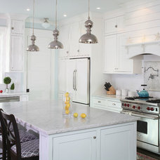 Beach Style Kitchen by Flatfish Island Designs House Plans