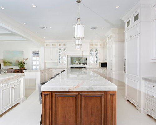 kitchen ideas with white cabinets. Huge beach style open concept kitchen appliance  coastal u shaped limestone floor and Top 20 Kitchen with White Cabinets Ideas Designs Houzz
