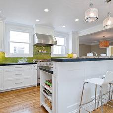Beach Style Kitchen by Melissa Lenox Design