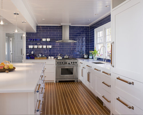 Beach Style Kitchen Idea In Other With An Island