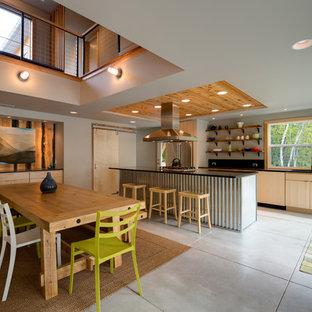 Beach Style Eat In Kitchen Designs Coastal Galley Photo