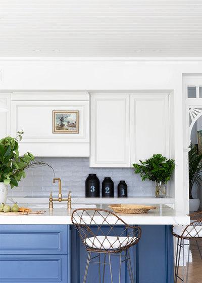 Beach Style Kitchen by Katie Sargent Design