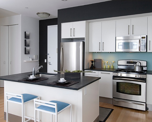 white kitchens black countertops - newcountertop