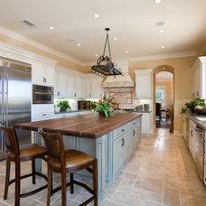Mediterranean Kitchen by Stone Building Corporation