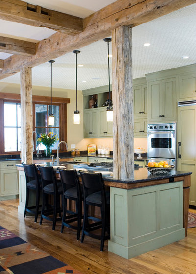 Rustic Kitchen by Montana Reclaimed Lumber Co.