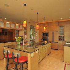Contemporary Kitchen by Johnson Stone Countertop