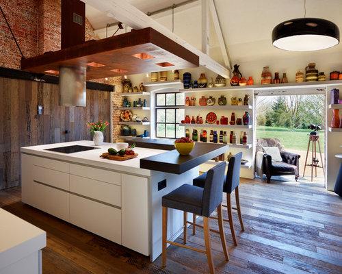 Cuisine de luxe avec un plan de travail en stratifi for Cuisine lineaire design