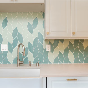Beautiful Blended Kitchen Backsplash