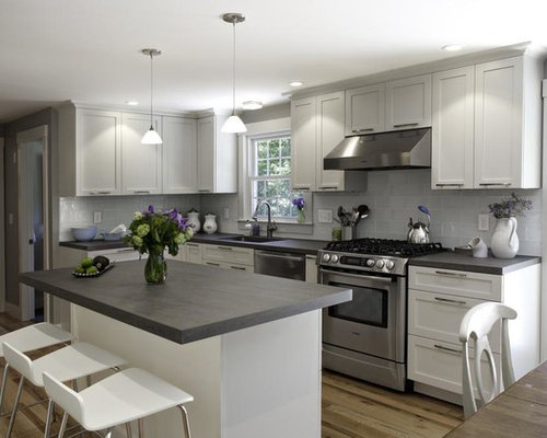 Grey Countertops Home Design Ideas Pictures Remodel And