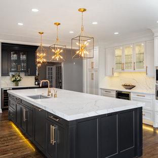 Beautiful hardwood floors and painted cabinets