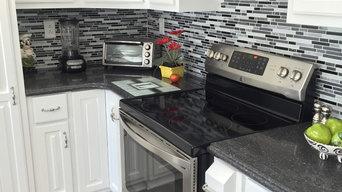 Beautiful Tile Backsplash & LVP Flooring