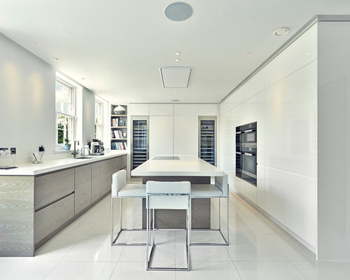 Contemporary White Kitchen contemporary white kitchen | houzz