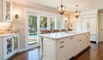 Beautiful White & Bold Blue Kitchen