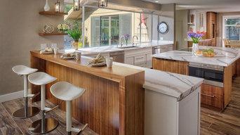 Beautiful White & walnuts veneer Kitchen
