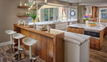 Beautiful White & walnuts veneer Kitchen