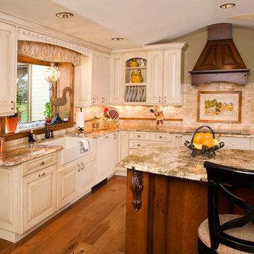 Beautiful White Washed Kitchen