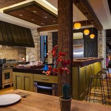 Rustic Kitchen by 186 Lighting Design Group - Gregg Mackell