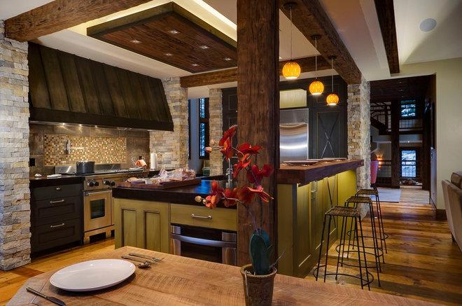 Rustic Kitchen by 186 Lighting Design Group - Gregg Mackell
