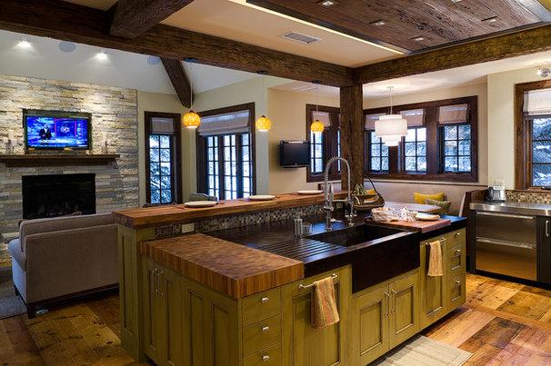 Rustic Kitchen by Studio Spinnato, Inc.
