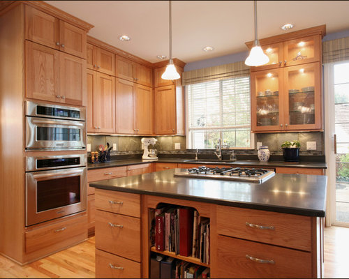 Light Oak Cabinets Kitchen Design Ideas Remodel Pictures Houzz